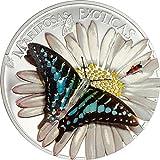Mariposas Exóticas 3D Graphium Policenes 1000 CFA Francs Silver Coin Equatorial Guinea 2015