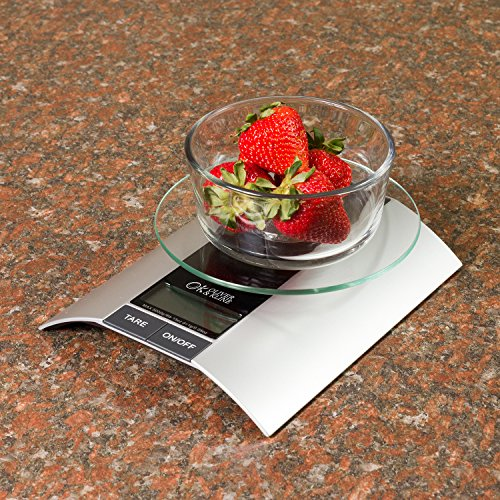 Best kitchen food scale 9lb 15oz weight limit 5kg for Best kitchen scale for baking