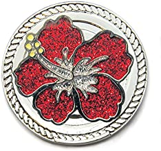 Navika KICKS CANDY Hibiscus Glitzy Ball Marker with Round Shoe Ornament