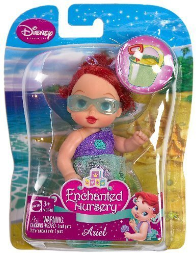 Buy Low Price Mattel Ariel (M0746) – Disney Princess Enchanted Nursery Summer Beach Series 4″ Figure (B003586RGU)