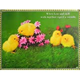 "Dolls Of India ""Cute Chicks"" Reprint On Paper - Unframed (91.44 X 58.42 Centimeters)"
