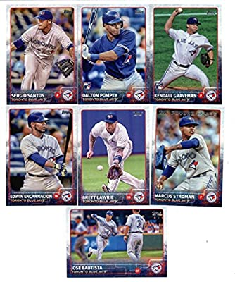 2015 Topps Baseball Cards Toronto Blue Jays Team Set (Series 1- 13 Cards) Including Team Card, Jose Bautista, Marcus Stroman, Sergio Santos, Dalton Pompey, Brett Lawrie, Daniel Norris, Dioner Navarro, Edwin Encarnacion, Jose Reyes, Aaron Sanchez, R.A. Dic