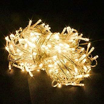 100er LED 10M Warmweiß Lichterkette Weihnachten Party Leuchte