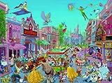 西洋絵画 ディズニー ディズニーキャラクター大集合 The Happiest Street on Earth [並行輸入品]