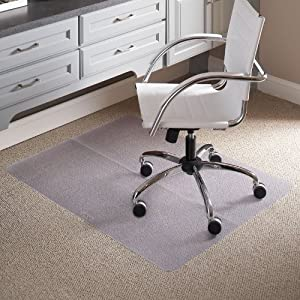 ES Robbins Rectangle Folding Chair Mat For Carpet 39 X 4