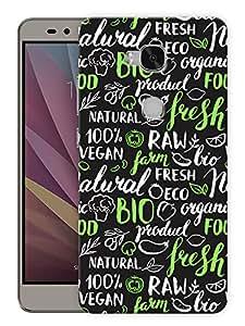 "Humor Gang Vegan Food Lover Doodle Printed Designer Mobile Back Cover For ""Huawei Honor 5X"" (3D, Matte, Premium Quality Snap On Case)"