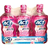 ACT Kids Anticavity Fluoride Rinse, BubbleGum Blowout, 16.9 Bottle (3-Pack)