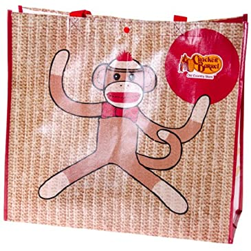 Sock Monkey Shopping Tote Bag
