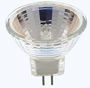 (Pack Of 2) 10 Watt MR11 12 Volt Precision Halogen Reflector Fiber Optic Light Bulb 10W 12V (Tamaño: 10 Watt - 12V- 2 Pack)