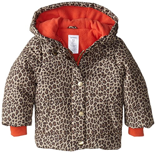 Carter's Baby Girls' Heavyweight Single Jacket, Cheetah, 12 Months