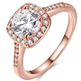 Women's Pretty 18K Rose Gold Plated Wedding Bands TIVANI Collection Jewelry Rings,6 (Color: Rose Gold)