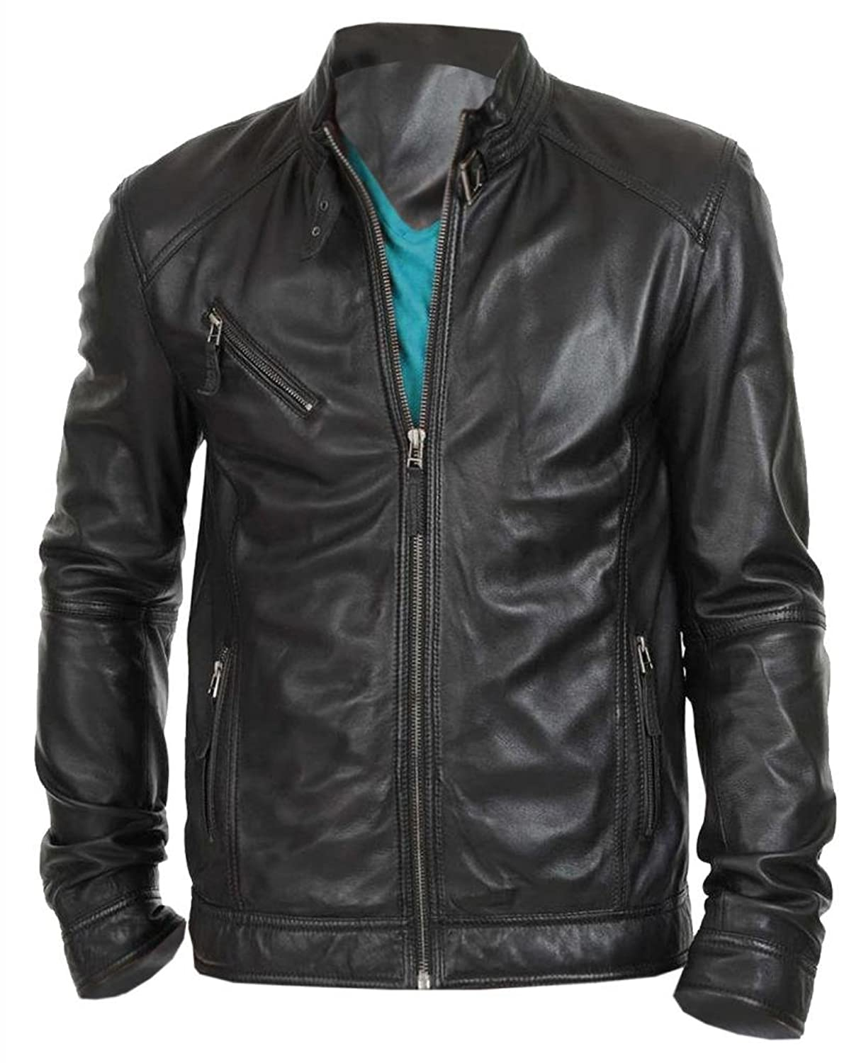 Wantdo Men's Fashion Faux Jackets Pu Leather Jackets With Removable Hood With Gift The Leather Factory Men s New