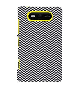 Blue Chevron Arrows 3D Hard Polycarbonate Designer Back Case Cover for Nokia Lumia 820 :: Microsoft Lumia 820