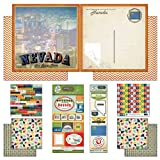 Scrapbook Customs Themed Paper and Stickers Scrapbook Kit, Nevada Vintage