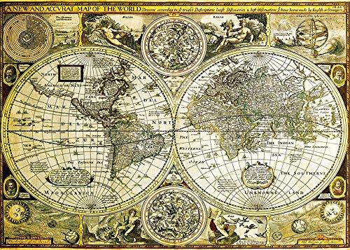 Weltkarte als Poster   Historische Weltkarte