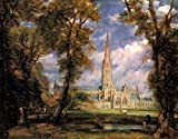 Salisbury Cathedral 1823 - John Constable - Quality Mouse Mat