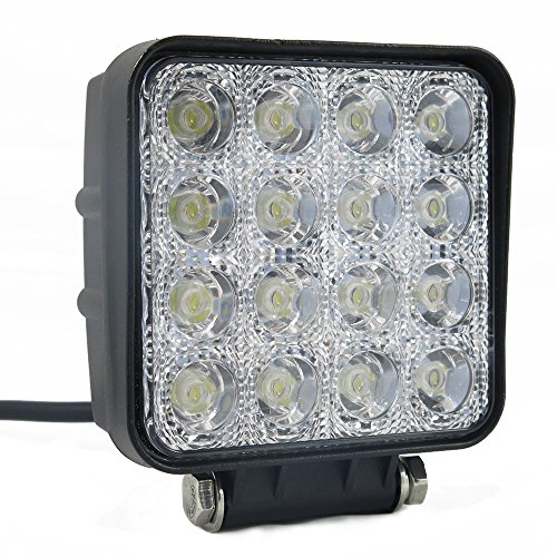 48W 30 Degree Led Spot Beam Lights Square For Jeep Cabin/Boat/Suv/Truck/Car/Atv/Vehicles/Automative/Jeep/Marine Off-Road Bulb Lamp Light Fog Lighting Exterior/Interior