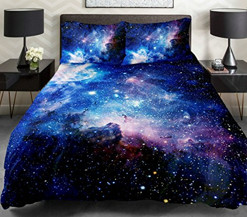 Anlye Queen Size Galaxy Bedding Sets Cotton Bedroom Set With 1 Cotton Sheet 1 Galaxy Duvet Cover 2 Pillowcase for Queen Comforter,Best Gift Ideas (Tye Dye Quilt compare prices)