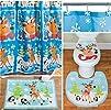 Whimsical Holiday Bathroom Set~Reinde…