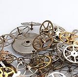 歯車【 ヴィンテージ 時計パーツ】時計の針・ゼンマイ スチームパンク 福袋 レジン チャーム 素材 パウダートレーディング