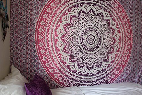 """New Launched"" Popular Ombre Tapestry Indian Mandala Wall Art, Hippie Wall Hanging, Bohemian Bedspread By Popular Handicrafts"