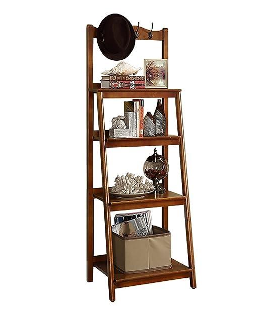 Mensole in legno massiccio Libreria a pavimento Soggiorno camera da letto Mensola ad angolo 4 ° piano Rack storage, 3 colori sono disponibili ( Colore : B , dimensioni : 500*430*1500mm )