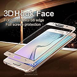 Ascari 0.2mm 2.5D Electroplating Front Full Coverage Cover Tempered glass Screen Protector Film Skin for Samsung Galaxy S6 Edge G9250