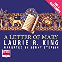 A Letter of Mary Audiobook by Laurie R. King Narrated by Jenny Sterlin