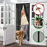 Magnetic Screen Door, OMore Heavy Duty Mesh Curtain & Full Frame Velcro, Fits Door Openings up to 34