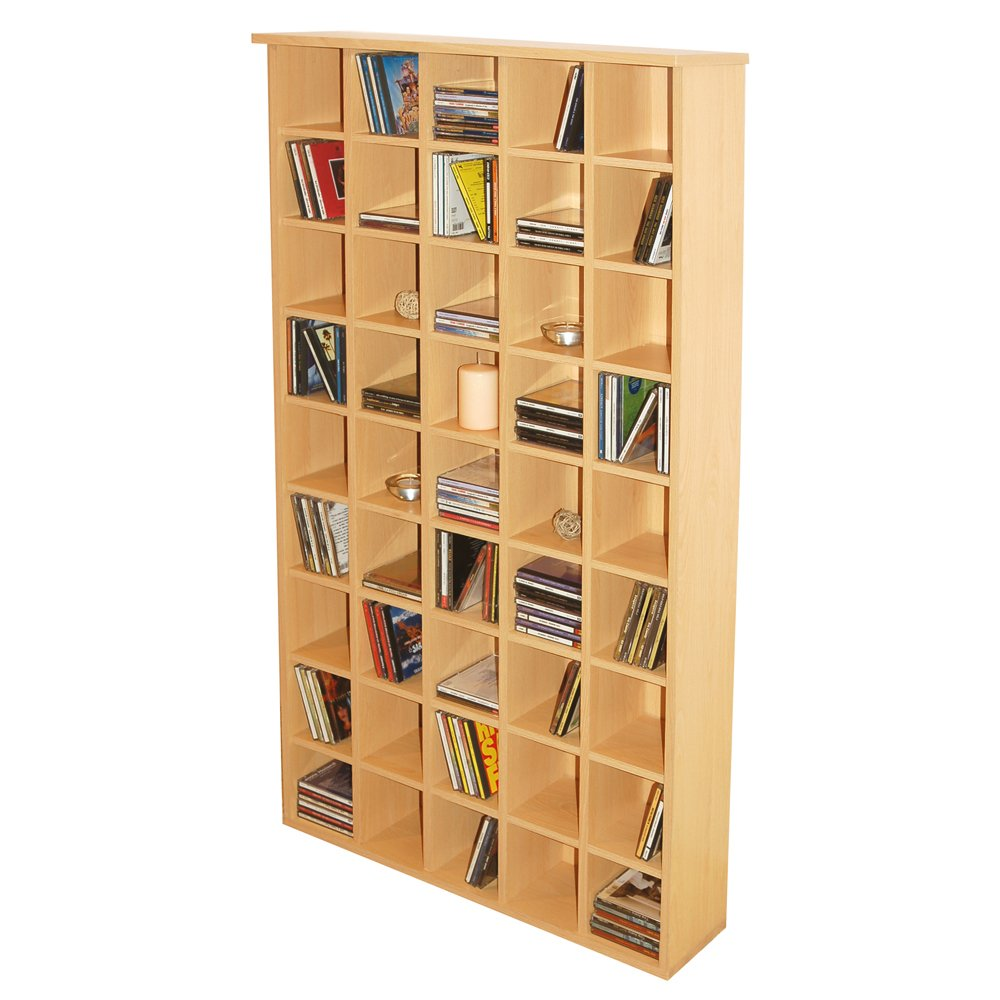PIGEON HOLE   CD Media Storage Shelves   Beech       Customer reviews and more description