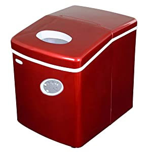 Newair Al-100 28-Pound Portable Icemaker, Red