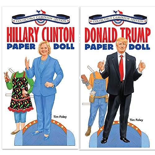 Set-Donald-Trump-And-Hillary-Clinton-Paper-Dolls-Each-Has-15-Outfits