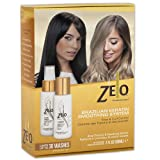 ZELO Smoothing Keratin Hair Treatment Kit (2 Oz Cleanser, 2 Oz Smoothing Gel Spray) 2 Step Kit Eliminates Frizz, Straightens Hair and Helps Keep Smooth, Shiny, Silky Hair For All Hair Types (Tamaño: 2 ounces)