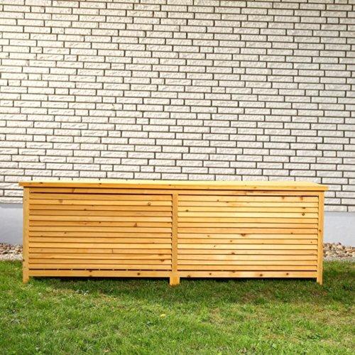 Unbekannt 2in1 Holz Bank Auflagenbox Kissenbox Gartenbank Gartenmöbel