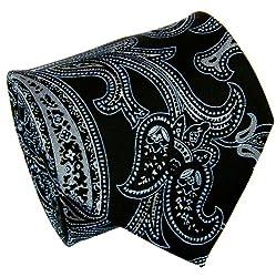 Extra Long Paul Malone Necktie Set 100% Silk . Black a. Blue