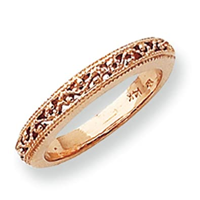 14ct Rose Gold Band Ring - Size L 1/2