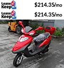 Sunny Powersports MC-D150K RED Gas Costa 150cc Moped Scooter w/ Trunk