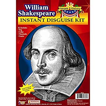 Forum Novelties Men's Heroes In History Instant Disguise Kit William Shakespeare