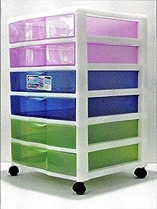 sterilite 6 drawer craft cart multi color. Black Bedroom Furniture Sets. Home Design Ideas