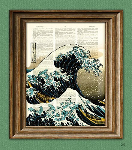 the-great-wave-off-kanagawa-awesome-upcycled-japanese-tidal-wave-vintage-dictionary-page-book-art-pr