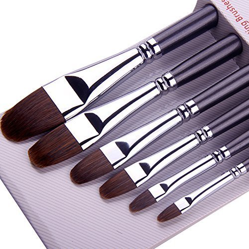 Gouche and Watercolor Painting Round Pointed Paint Brush Set For Acrylic Weasel Hair Oil ARTIST PAINT BRUSHES Top Quality Red Sable Long Handle