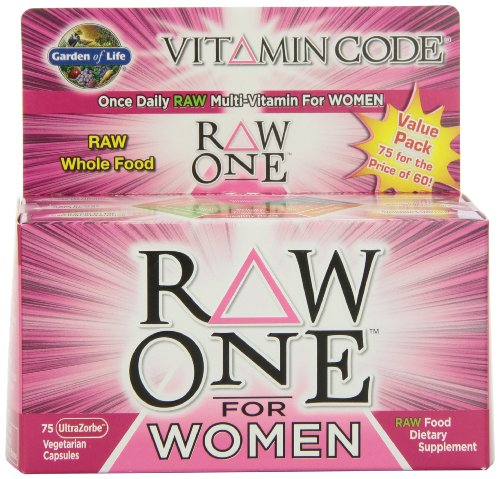 Garden of Life Vitamin Code RAW One for Women, 75 Capsules
