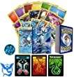 Pokemon GO Team Mystic Collection of 50 Random Pokemon Card Lot - Featuring Articuno! Rares - Foils - Energy and Coin! Includes 3 Custom Golden Groundhog Tokens! Comes in Tin or Card Storage Box!