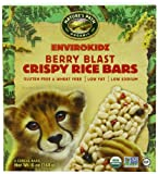 EnviroKidz Organic Cheetah Crispy Rice, Berry Blast, 1.0 oz. Bars, 6-Count (Pack of 6)
