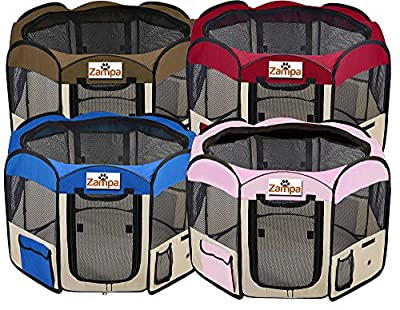 Pet Playpen - Best Pet Folding Playpen - Great Kennel For Dogs & Cats - Easily Sets Up & Folds Down & Space Free - 1 Year Guarantee