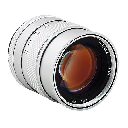 Zhongyi objectif à grande ouverture 85mm f/2.0 (argenté) pour Nikon AI