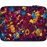 Snoogg Digital Floral Kenzie 12 To 12.6 Inch Laptop Netbook Notebook Slipcase Sleeve