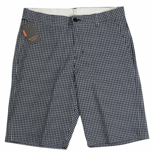 Mens Ben Sherman Mod Gingham Check Smart Shorts Designer Tailored Short Waist 28