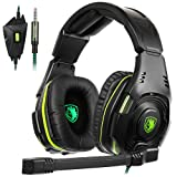 SADES SA-938 Multi-Platform Playstation 4Gaming Headset with Mic 3.5MM Jack in-LINE Volume Control Over-Ear Headphones for New PC/PS4/XboxOne/Smartphones (Color: SA938BlackGreen)