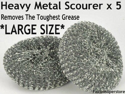 5-x-heavy-dutymetal-scourers-large-free-uk-post-tough-grease-aliminiuim-scrubber-metal-scouring-pad-